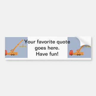 Transportation Heavy Equipment Crane Bumper Sticker