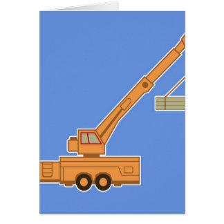 Transportation Heavy Equipment Crane Greeting Cards