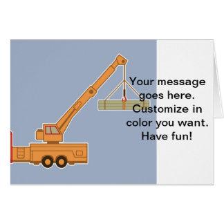 Transportation Heavy Equipment Crane Greeting Card