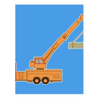Transportation Heavy Equipment Crane Postcard