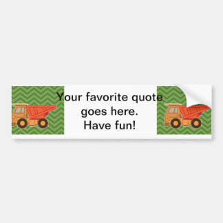 Transportation Heavy Equipment Dump Truck Bumper Sticker