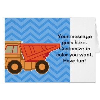 Transportation Heavy Equipment Dump truck Greeting Card