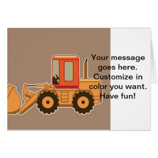Transportation Heavy Equipment Payloader – Brown Greeting Card