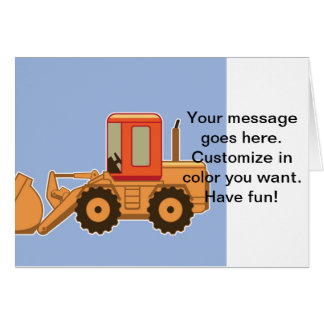 Transportation Heavy Equipment Payloader Greeting Card