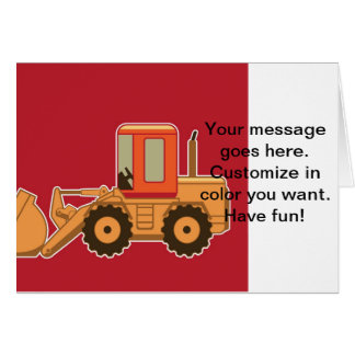 Transportation Heavy Equipment Payloader - Red Greeting Card