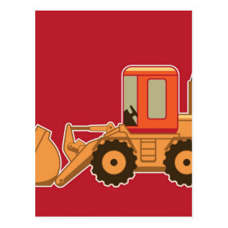 Transportation Heavy Equipment Payloader - Red Postcard