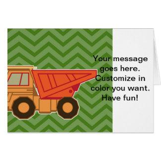 Transportation Heavy Equipment Zigzag Chevron Greeting Card
