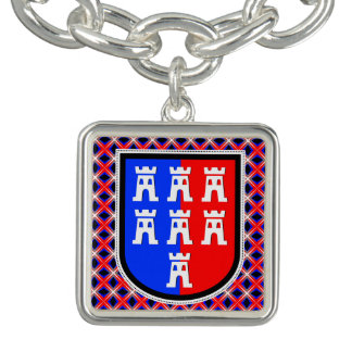 Transylvania coat of arms supporter charm bracelet