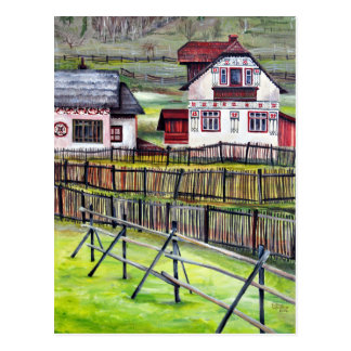 Transylvania, Romania, Picturesque Painted Scenery Postcard