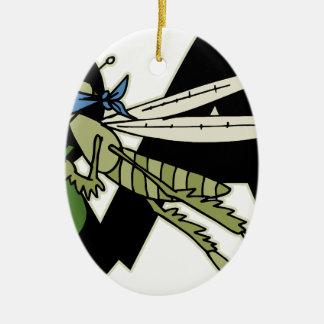 Trap Grasshopper Ceramic Ornament