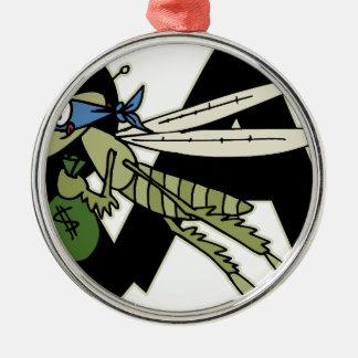 Trap Grasshopper Metal Ornament