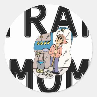 Trap Mom Classic Round Sticker