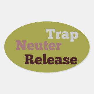 Trap Neuter Release oval sticker
