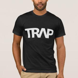 TRAP Shirt, White on Black T-Shirt
