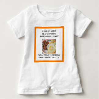 trap shooting baby romper