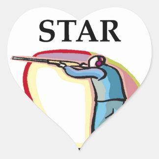 trap shooting heart sticker