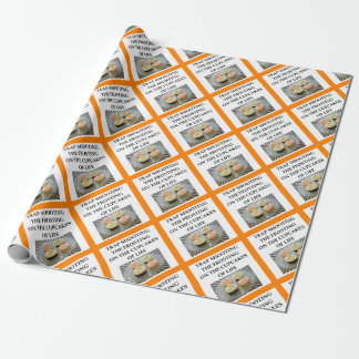trap shooting wrapping paper