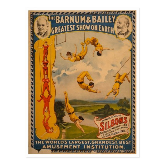 Trapeze artists Barnum & Bailey 1896 Postcard