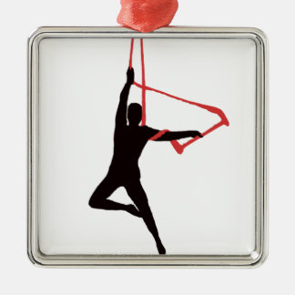 Trapeze Swing Aerialists Metal Ornament