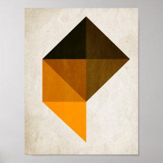 Trapezoid No. 9 - Kubistika by Boris Draschoff Poster