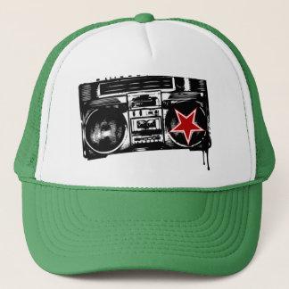 trapmafia boom box logo trucker hat