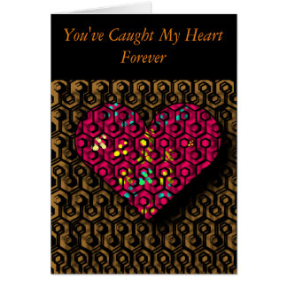 Trapped Heart Romantic, Valentine's Day Card
