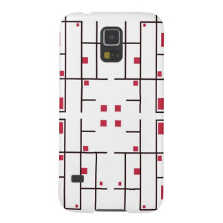 Trapped Red Squares Galaxy S5 Cover