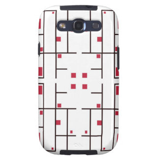 Trapped Red Squares Samsung Galaxy S3 Cases