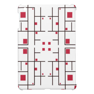 Trapped Red Squares iPad Mini Covers