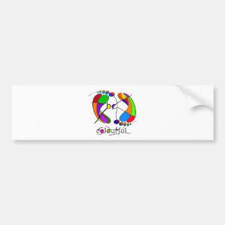 Trapsanella - be colourful bumper sticker