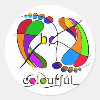 Trapsanella - be colourful classic round sticker