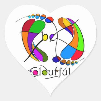 Trapsanella - be colourful heart sticker