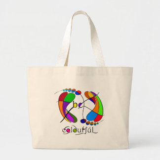 Trapsanella - be colourful large tote bag