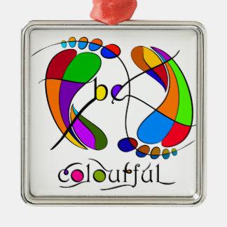 Trapsanella - be colourful metal ornament