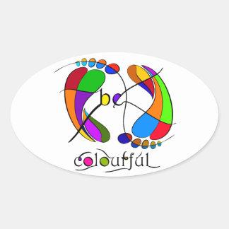 Trapsanella - be colourful oval sticker