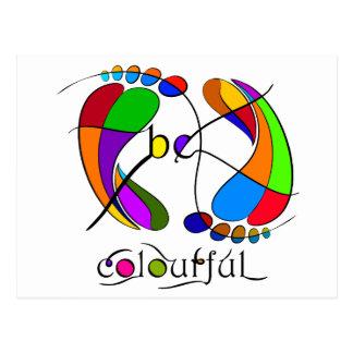 Trapsanella - be colourful postcard