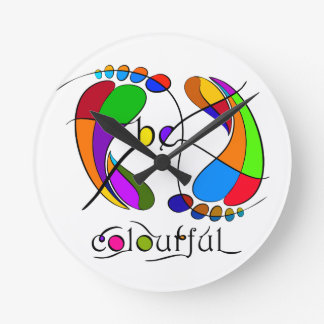 Trapsanella - be colourful round clock