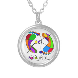 Trapsanella - be colourful silver plated necklace