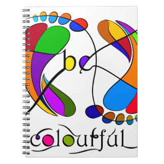 Trapsanella - be colourful spiral notebook