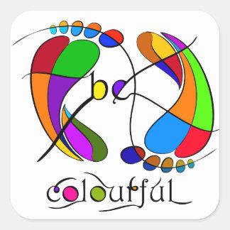 Trapsanella - be colourful square sticker