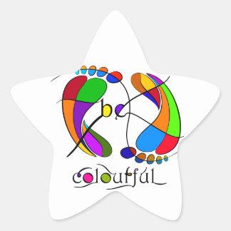 Trapsanella - be colourful star sticker