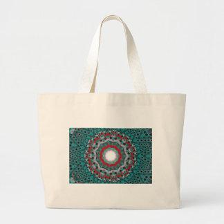 trash atom large tote bag