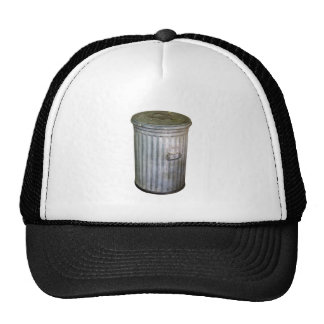 trash bin trucker hat