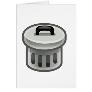 Trash Can Card