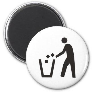 Trash Can Sign Magnet