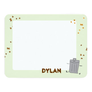 "Trash Can Thank you 4.25"" X 5.5"" Invitation Card"