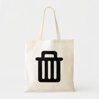 Trash Icon Canvas Bags