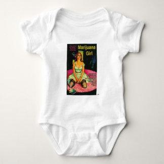 TRASH-Marijuana-Girl Baby Bodysuit