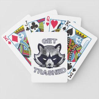 Trash Panda Party People Bicycle Playing Cards