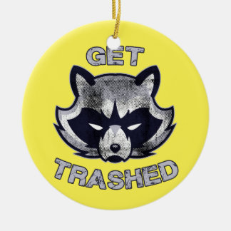 Trash Panda Party People Ceramic Ornament